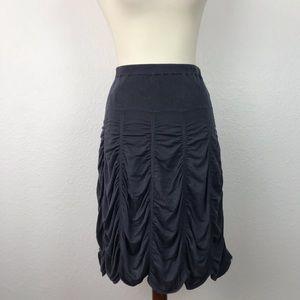 Vivienne by Vivienne Tam Knit Draped Skirt SK198